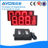 Hidly 12 인치 빨간 방수 LED 주유소 표시