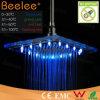 Testa di acquazzone di vetro di pioggia LED