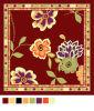 De bloem Gedrukte Sjaal van de Zijde (gs05-26-3)