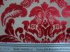 明白な切ビロードの焼損のソファーの生地(F76A)