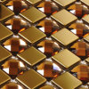 Vetro con Golden Mixed Stainless Steel Mosaic