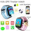 Montre de téléphone de traqueur des gosses GPS avec la lampe-torche (D26)