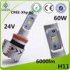 H11極度の明るいクリー族LED車ライトT 60W 6000lm