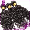 安く2 PCS Curly Human WeavingブラジルのWetおよびWavy Hair