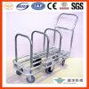 Tublar galvanizado Hand Pull Trolley para Cardboard Storage