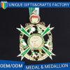 Il metallo su ordinazione di marchio in lega di zinco la medaglia della pressofusione per gli sport