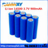 Icr 14500 3.7V 900mAh Licoo Material aa Size Battery per Flashlight, Torch, Solar Panel, Ect