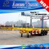 3 шассиего трейлера Axles 40foot каркасных для Таиланда