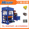 Pequeña máquina del bloque del motor diesel de la presión hydráulica Qt4-30 y de fabricación de ladrillo, pavimentadora colorida que hace la maquinaria
