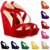 Sandalias de lujo de las mujeres de la correa del ante