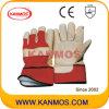 De gele Handschoenen van het Werk van de Bedrijfsveiligheid van de Winter van het Leer van de Korrel van het Varken (22303)