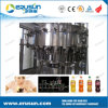 Glass Bottle with Metal Crown Cap CSD Filling Machine