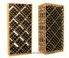 Diamant-Sortierfach-Wein, der modulare Florida-Wein-Zahnstangen stark beansprucht