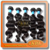 Prenda de Natal Brazilian Weave cabelo, 100% Remy cabelo humano tecelagem