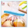 Clip lindo colorido del plástico del bolso del sello del almacenaje del alimento de la flor
