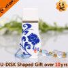 USB de cerámica personalizado Pendrive (YT-9106) del florero del regalo de la insignia