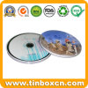 Boîte en métal rond en métal pour sac en métal CD, étui en CD en étain