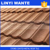 Mattonelle di tetto d'acciaio ondulate dell'ardesia del materiale da costruzione con i chip di pietra