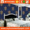 Damasco del papel pintado del vinilo del PVC del diseño interior