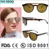 2016 mulheres polarizaram óculos de sol do olho de gato dos óculos de sol com ponte dobro