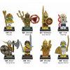 Ziegelstein-Spielwaren Qualität ABS Atlantis-Minifigures mit dem 8 Zeichen-Entwurf X0161