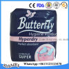 Салфетки бабочки женские санитарные для рынка Албании в 280mm