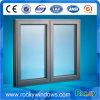 Portas de alumínio vitrificadas e Windows do tamanho de Windows do banheiro dobro padrão