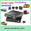 4カメラ1080P記録GPS追跡のWiFi 3G/4Gが付いている移動式車DVRの解決