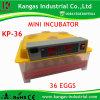De Machine van de Incubator van de Kip van de holding 36eggs (KP-36)