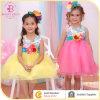 Crianças que vestem o vestido impresso floral da menina, vestido da flor do partido