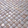 網、自然な色、15mm (COFM-CW-SQ15)の凸の淡水の貝のモザイク