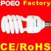 半分の螺線形のHelic CFLのコンパクトなけい光ランプCFLの省エネランプ