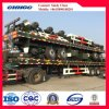 3 Radachsen 40ft/20ft Container Flatbed Semi Trailer