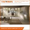 Mobília branca gabinete de cozinha personalizado da madeira contínua