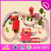 New quente Product para Kids 2015 Wooden Railway Toy, Highquality Wooden Toy Train, Hot Sale Christmas Toy Train (WITH 33PCS) W04c014