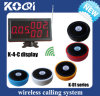 433.92MHz DIGITAL Wireless Restaurant Guest Calling System