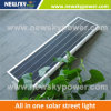 Energía Solar Integrated impermeable Echargeable luz LED