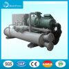 L'eau pour arroser le refroidisseur d'eau refroidi à l'eau géothermique de pompe à chaleur de vis