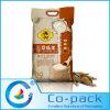 Bolso plástico del arroz de la alta barrera de encargo con el agujero de la mano