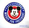 Pin-Mickey отворотом с печатание Silkscreen