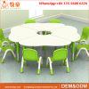 [مدف] زهرة شكل أطفال طاولة وكرسي تثبيت روضة الأطفال روضة أطفال أثاث لازم