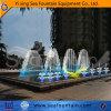 Fontaine chinoise allumée d'arrière-cour de l'eau de danse de fontaine extérieure