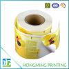Etiqueta adhesiva de encargo del papel de embalaje del rodillo de la impresión