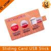 Presente feito sob encomenda que desliza a vara da memória do USB do cartão de crédito (YT-3111)