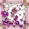 Blumen-Riemen-Form-Qualitäts-Silk Schal in 90X90