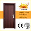 Porte en bois de PVC d'approvisionnement chinois d'usine (SC-P099)