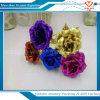 Regalo de los amantes románticos de la flor de Rose del oro del regalo del día de tarjeta del día de San Valentín colorido