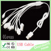 10 в 1 USB Cable White 1m