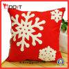 Kussen van de Bank van de Pluche van de Vlucht van de Sneeuw van de Decoratie van Kerstmis het Rode