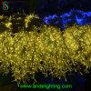 暖かい白LEDのつららの小雨の低下のクリスマスの照明